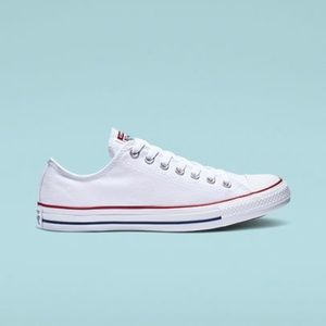 Converse white with red stripe! Size 5.5 women's